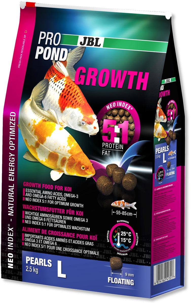 Корм JBL ProPond. Growth L для активного роста карпов кои большого размера, плавающие гранулы, 2,5 кг (6 л)0120710Корм JBL ProPond. Growth L в виде плавающих гранул предназначен для активного роста карпов кои большого размера. Это основной корм с правильным соотношением белков и жиров 5:1 по индексу NEO Index, учитывающему температуру воды, функцию, размер и возраст рыб. NEO Индекс буквально означает: натуральное энергетически оптимизированное питание. Если рассматривать с точки зрения времени года, рыбы зимой должны получать вдвое меньше белков (2:1), чем летом (4:1). Однако учитываются не только время года и температура воды, но и размер, и возраст, а также функция корма (например, для роста - ProPond Growth). NEO Индекс сочетает в себе все эти нюансы. Корм содержит лосось, креветки, спирулину, рыбий жир для оптимального роста (при температуре воды 15-25°С). Размер корма L (9 мм) предназначен для рыб 55-85 см. Плавучие гранулы с 46% белка, 10% жира, 2% клетчатки и 10% золы. Корм в виде гранул для роста хранится в закрывающемся, воздухо-, водо- и светонепроницаемом пакете для лучшего качества. Товар сертифицирован.