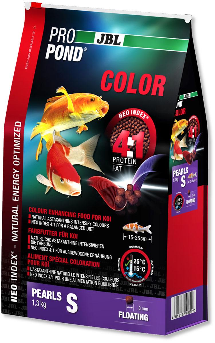Корм JBL ProPond. Color S для улучшения окраски карпов кои небольшого размера, плавающие гранулы, 1,3 кг (3 л)0120710Корм JBL ProPond. Color S в виде плавающих гранул предназначен для улучшения окраски карпов кои небольшого размера. Это основной корм с правильным отношением белков и жиров 4:1 по индексу NEO Index, учитывающему температуру воды, функцию, размер и возраст рыб. NEO Индекс буквально означает: натуральное энергетически оптимизированное питание. Если рассматривать с точки зрения времени года, рыбы зимой должны получать вдвое меньше белков (2:1), чем летом (4:1). Однако учитываются не только время года и температура воды, но и размер, и возраст, а также функция корма (например, для роста - ProPond Growth). NEO Индекс сочетает в себе все эти нюансы. Корм содержит лосось, креветки, сою и астаксантин для идеальной окраски (при температуре воды 15-25°С). Размер корма S (3 мм) предназначен для рыб 15-35 см. Плавающие гранулы с 36% белка, 9% жира, 3% клетчатки и 9% золы. Корм в виде гранул для усиления окраски хранится в закрывающейся воздухо-, водо- и светонепроницаемой упаковке для лучшего качества. Товар сертифицирован.