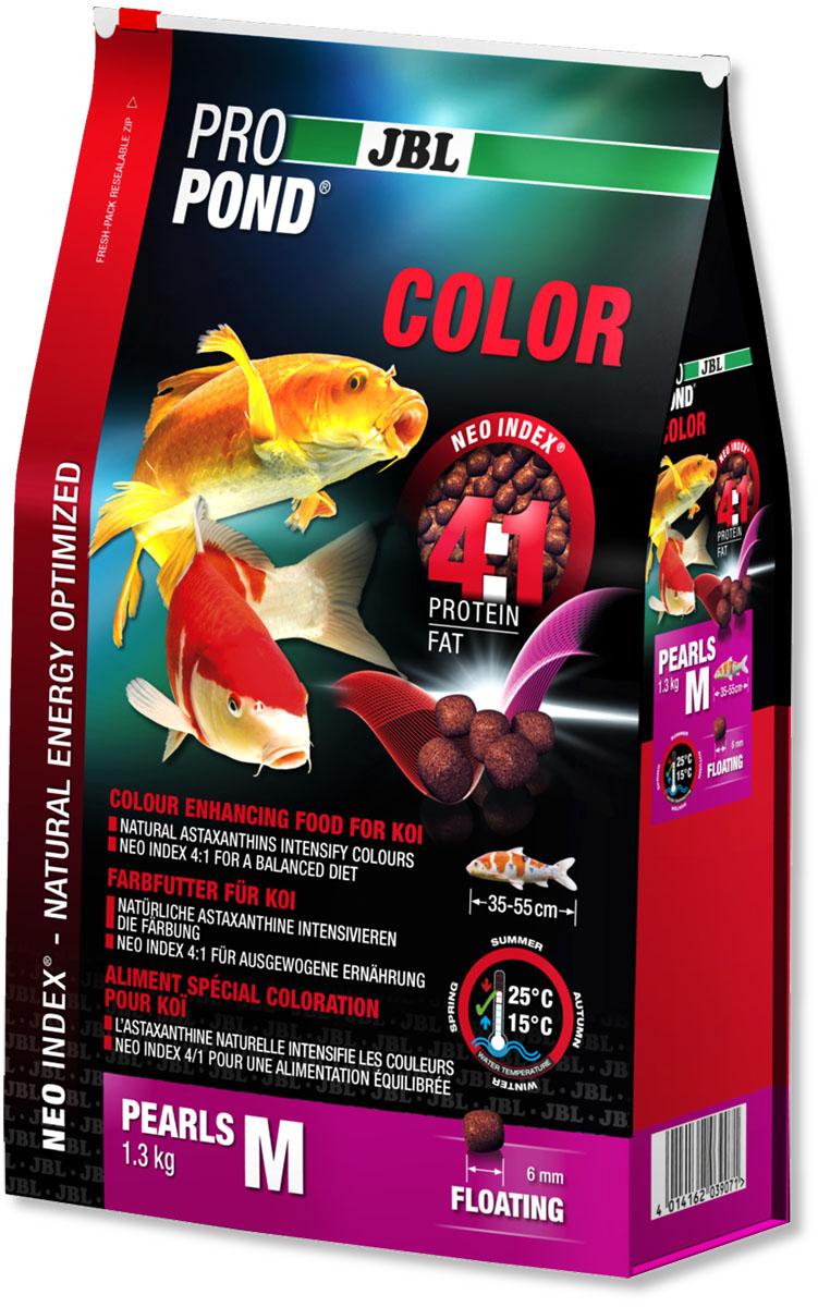Корм JBL ProPond. Color M для улучшения окраски карпов кои среднего размера, плавающие гранулы, 1,3 кг (3 л)0120710Корм JBL ProPond. Color M в виде плавающих гранул предназначен для улучшения окраски карпов кои среднего размера. Это основной корм с правильным отношением белков и жиров 4:1 по индексу NEO Index, учитывающему температуру воды, функцию, размер и возраст рыб. NEO Индекс буквально означает: натуральное энергетически оптимизированное питание. Если рассматривать с точки зрения времени года, рыбы зимой должны получать вдвое меньше белков (2:1), чем летом (4:1). Однако учитываются не только время года и температура воды, но и размер, и возраст, а также функция корма (например, для роста - ProPond Growth). NEO Индекс сочетает в себе все эти нюансы. Корм содержит лосось, креветки, сою и астаксантин для идеальной окраски (при температуре воды 15-25°С). Размер корма M (6 мм) предназначен для рыб 35-55 см. Плавающие гранулы с 36% белка, 9% жира, 3% клетчатки и 9% золы. Корм в виде гранул для усиления окраски хранится в закрывающейся воздухо-, водо- и светонепроницаемой упаковке для лучшего качества. Товар сертифицирован.