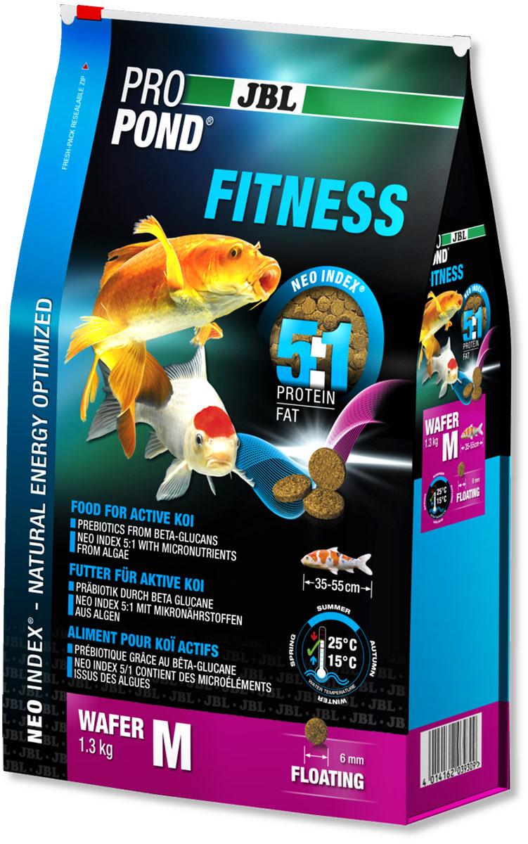 Корм JBL ProPond. Fitness M для активных карпов кои среднего размера, плавающие чипсы, 1,3 кг (3 л)101246Корм JBL ProPond. Fitness M в виде плавающих чипсов предназначен для активных карпов кои среднего размера. Это основной корм с правильным соотношением белков и жиров 5:1 по индексу NEO Index, учитывающему температуру воды, функцию, размер и возраст рыб. NEO Индекс буквально означает: натуральное энергетически оптимизированное питание. Если рассматривать с точки зрения времени года, рыбы зимой должны получать вдвое меньше белков (2:1), чем летом (4:1). Однако учитываются не только время года и температура воды, но и размер, и возраст, а также функция корма (например, для роста - ProPond Growth). NEO Индекс сочетает в себе все эти нюансы. Корм JBL ProPond Fitness идеален для быстрой смены времен года и содержит пребиотики, поэтому при резких изменениях температуры поддерживает хорошую физическую форму у рыб. Соотношение белков и жиров 5:1 помогает рыбам покрыть высокий энергетический обмен без перехода на запасы энергии. Поэтому остается достаточно энергии для сопротивления болезни. Корм содержит лосось, спирулину и пребиотические бета-глюканы для усиленного питания (при температуре воды 15-25°С). Размер корма M (6 мм) предназначен для рыб 35-55 см. Плавающие чипсы с 38% белка, 8% жира, 3% клетчатки и 9% золы. Чипсы Fitness хранятся в закрывающейся воздухо-, водо- и светонепроницаемой упаковке для лучшего качества. Товар сертифицирован.