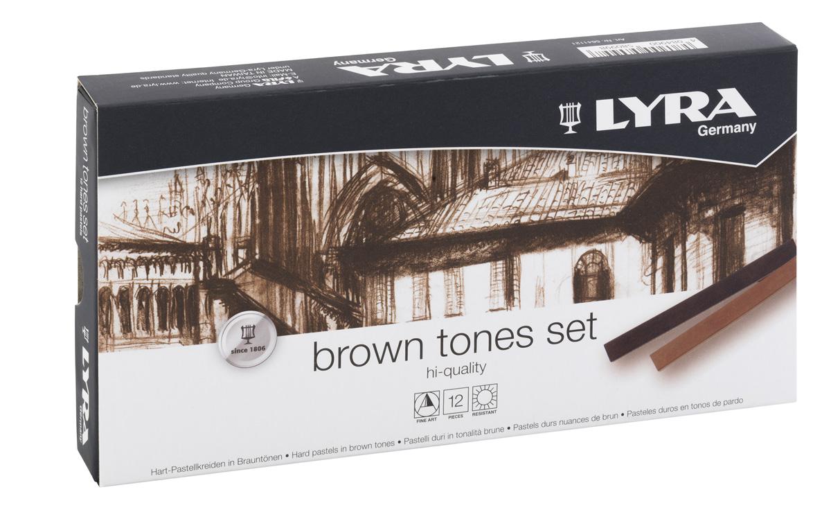 Lyra Пастель сухая Polycrayons коричневые тона 12 цветовL5641121Набор пастельных мелков Lyra Polycrayons создан для художественного и графического творчества и отлично подходит как для профессионалов, так и для начинающих художников.Четырехгранные мелки коричневых тонов имеют высокую прочность, не крошатся и не ломаются.Обладают необыкновенной яркостью и стойкостью благодаря высокой степени пигментации.Мелки растворяются в воде и легко смешиваются, что позволяет создавать неограниченное количество оттенков в различных комбинациях.Длина 70 мм, диаметр 10 мм.Не рекомендуется детям до 3-х лет .