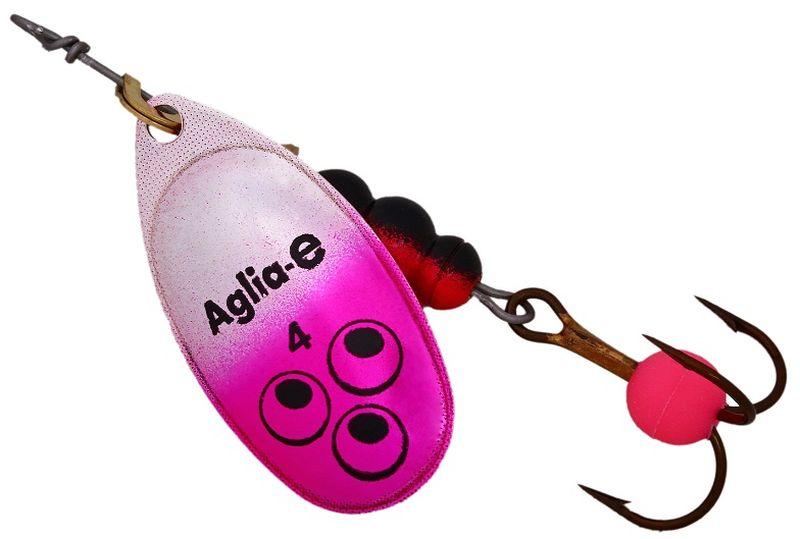 Блесна вращающаяся Mepps Aglia E, цвет: розовый, №462428Вращающаяся блесна для ловли хищных видов рыб. Имеет яркий, кислотный цвет. Тройник блесны оснащен флуоресцентным светонакопительным шариком.
