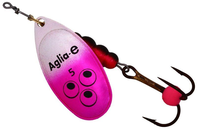 Блесна вращающаяся Mepps Aglia E, цвет: розовый, №562429Вращающаяся блесна для ловли хищных видов рыб. Имеет яркий, кислотный цвет. Тройник блесны оснащен флуоресцентным светонакопительным шариком.