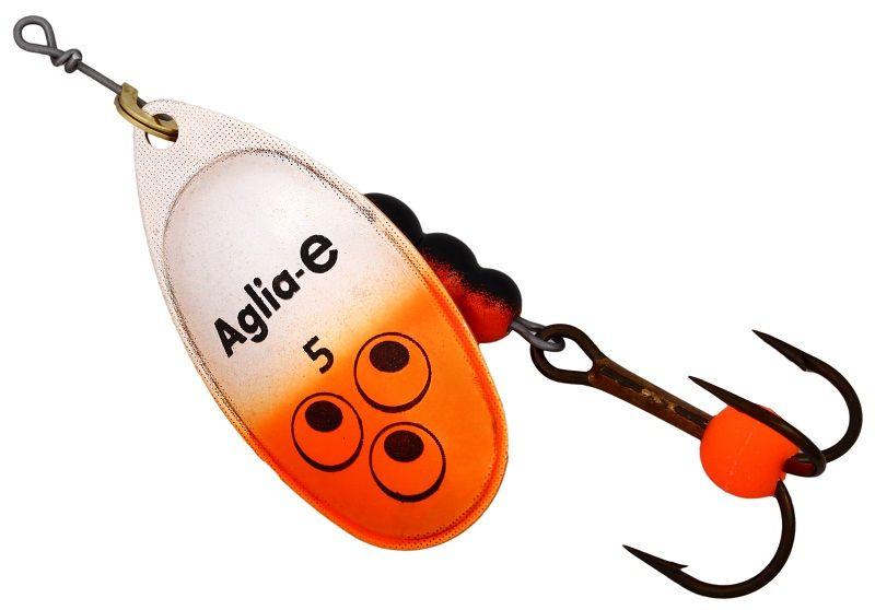 Блесна вращающаяся Mepps Aglia E, цвет: оранжевый, №562434Вращающаяся блесна для ловли хищных видов рыб. Имеет яркий, кислотный цвет. Тройник блесны оснащен флуоресцентным светонакопительным шариком.
