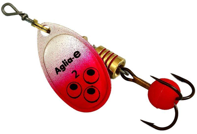 Блесна вращающаяся Mepps Aglia E, цвет: красный, №262436Вращающаяся блесна для ловли хищных видов рыб. Имеет яркий, кислотный цвет. Тройник блесны оснащен флуоресцентным светонакопительным шариком.