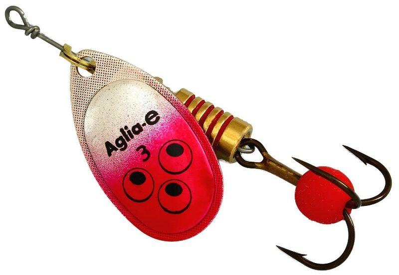 Блесна вращающаяся Mepps Aglia E, цвет: красный, №362437Вращающаяся блесна для ловли хищных видов рыб. Имеет яркий, кислотный цвет. Тройник блесны оснащен флуоресцентным светонакопительным шариком.