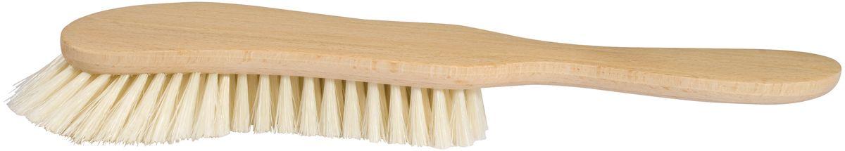 Щетка для подушек Redecker531-301Удобная щетка для чистки подушек. Выполнена из натуральной древесины, за счет чего имеет прочную и долговечную конструкцию. Эргономичная форма позволяет легко удерживать предмет в руках. Упругая щетина обеспечивает максимально эффективную очистку от скопившейся пыли и грязи.Длина щетки – 30 см.