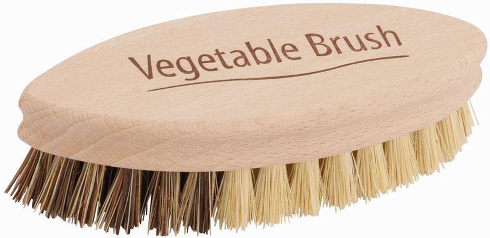 Щетка для чистки овощей Redecker, длина 13,5 смDAVC150Щётка для чистки овощей изготовлена из необработанной древесины бука и сочетания растительных волокон. Волокно тэмпико добывают из растений агавы, произрастающих на мексиканских плато. Это растительное волокно характеризуется высокой жаро- и формоусточивостью, что делает его идеальным материалом для чистящих щеток. Пальмирское волокно, получаемое из листьев пальмирской сахарной пальмы, устойчиво к высоким температурам и хорошо переносит влагу.Щетина поделена на две части, каждая из которых подходит для определенного типа овощей. Жесткая часть поможет очистить от земли и грязи картофель, морковь, свёклу и другие корнеплоды. Более мягкая щетина предназначена для овощей с деликатной кожицей. Идеальный инструмент на каждый день.Длина - 13,5 см.