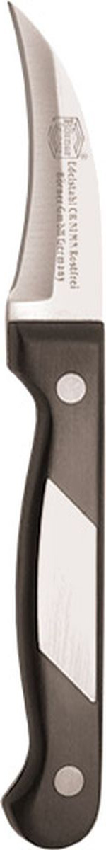 Нож Borner Ideal, картофельный, длина лезвия 8 см863515_синийНож картофельный Borner Ideal изготовлен из прокатной коррозионностойкой высоколегированной стали марки X50CrMoV15.Твердость HRC 56+/-1.Ручка ножа сделана из бакелита.После использования нож рекомендуется сразу мыть и вытирать насухо. Не мыть в посудомоечной машине.Для заточки можно использовать: мусат, электроточилку, ножеточку, оселок. Рекомендуемый угол заточки (суммарный с 2-х сторон): 20°-25°.