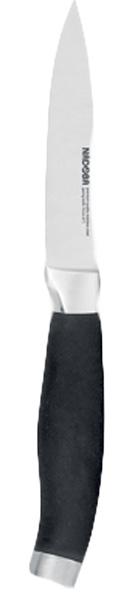 Нож для овощей Nadoba Rut, длина лезвия 10 см420617Нож для овощей Nadoba Rut изготовлен из высококачественной кованой нержавеющей стали премиум-класса. Лезвие такого ножа остается острым очень долгое время. Эргономичная ручка выполнена из кованой нержавеющей стали с нескользящим резиновым покрытием. Этот легкий и многофункциональный нож прекрасно подойдет для очистки и нарезкиовощей и фруктов. Нож Nadoba Rut станет прекрасным дополнением к коллекции ваших кухонных аксессуаров.Длина лезвия: 10 см.