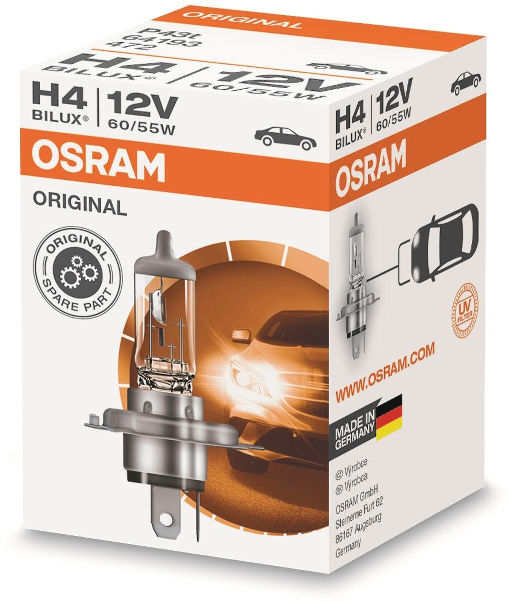 Лампа автомобильная галогенная Osram Original Line, для фар, цоколь P43t, 12V, 75ВтS03301004Лампы OSRAM ORIGINAL LINE - это безупречные рабочие характеристики, отвечающие всем стандартам автомобильного освещения, надежность и экономия.