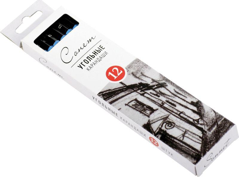 ЗХК Угольные карандаши Сонет мягкие 12 штFS-36052Угольные карандаши СОНЕТ предназначены для создания рисунков, набросков, эскизов и т.п. Удобны для проработки контуров и мелких деталей. Стержень изготовлен из натурального прессованного древесного угля, который легко ложится на бумагу, картон, крафт. В ассортименте представлены три степени твердости: твердый, средний и мягкий.