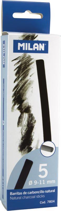 Milan Уголь для рисования круглый 9-11 мм 5 штЦМ_11129Набор натуральных углей для рисования Milan состоит из пяти углей, выполненных в форме палочек круглого сечения, диаметра 9-11 миллиметров. Уголь относится к самым старым рисовальным материалам. Природный уголь получают обжигом прутьев при высокой температуре без доступа воздуха. Древесина обуглится, а отдельные веточки остаются целыми, ими можно рисовать сразу после обжига. Уголь - это быстрый, линейный и чувственный рисовальный инструмент. Он может создать, как выразительные, так и мягкие линии. Характер и воздействие угольного штриха определяется способом ведения угля.Натуральные угли для рисования Milan не крошатся.Углем можно создавать мягкие и проработанные тоновые эффекты различными способами.