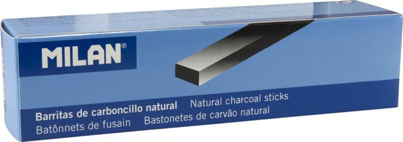 Milan Уголь для рисования прямоугольный 15-4 мм 6 штFS-36052Набор натуральных углей для рисования Milan состоит из шести углей, выполненных в форме палочек прямоугольного сечения 15/4 мм. Уголь относится к самым старым рисовальным материалам. Природный уголь получают обжигом прутьев при высокой температуре без доступа воздуха. Древесина обуглится, а отдельные веточки остаются целыми, ими можно рисовать сразу после обжига. Уголь - это быстрый, линейный и чувственный рисовальный инструмент. Он может создать, как выразительные, так и мягкие линии. Характер и воздействие угольного штриха определяется способом ведения угля.Натуральные угли для рисования Milan не крошатся.Углем можно создавать мягкие и проработанные тоновые эффекты различными способами.