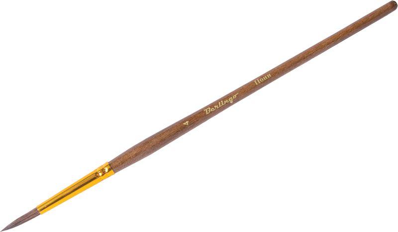 Berlingo Кисть Пони круглая №04AB00404Круглая кисть Berlingo предназначена для оформительских работ и изобразительного искусства. Кисть из волоса пони облегчает процесс прорисовки и раскрашивания мелких деталей. Кисть имеет короткую деревянную ручку. Натуральный волос кисточки устойчив к влаге.