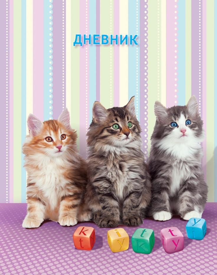 Апплика Дневник школьный для младших классов Три котенка