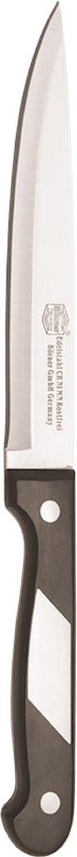 Нож Borner Ideal, поварской, длина лезвия 15 см863515_синийИдеальное решение для каждой готовки - это серия ножей Ideal от немецкой марки Borner. Ножи этой коллекции из прокатной стали сочетают в себе превосходное качество, эргономичность, а также элегантное исполнение. Поварской нож позволит даже любителю почувствовать себя профессионалом. Его острые лезвия долгое время сохраняют заточку, а износоустойчивая бакелитовая ручка комфортно ложится в ладонь. Нож не боится повреждений, влаги, коррозии, а также долгих лет использования.Длина лезвия: 15 см.Длина ножа: 27,5 см.