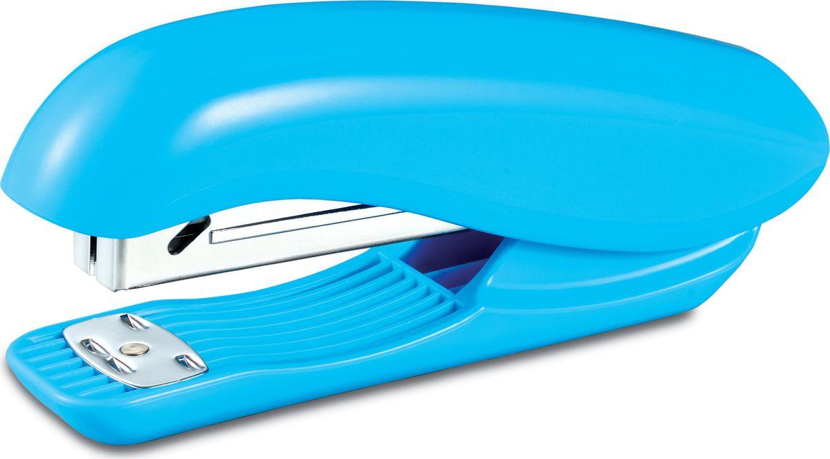 KW-Тrio Степлер Dolphin 20 листов цвет голубойFS-36052Настольный степлер KW-Тrio Dolphin эргономичного дизайна с металлическим механизмом обеспечит качественное скрепление документов.KW-Тrio степлер выполнен в ярко голубом цвете. Сшивает до 20 листов бумаги плотностью 80гр/м2. Глубина прошивки 55 мм. Два вида сшивания. Подходят скобы 24/6 и 26/6. Вместимость - 150 скоб.