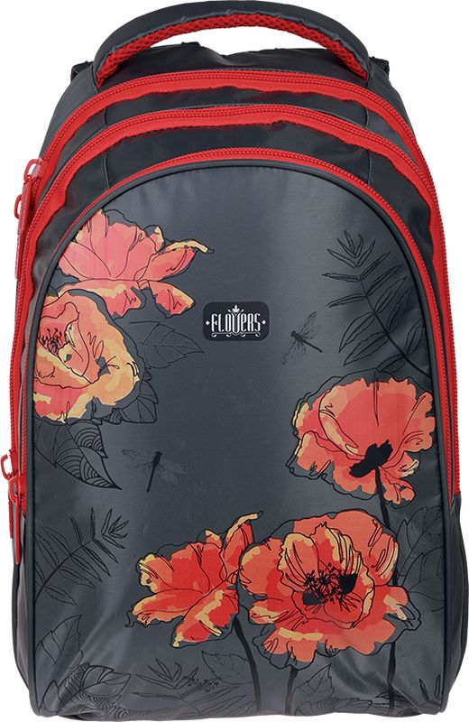 Berlingo Рюкзак Style Red poppies72523WDРюкзак Style Red poppies 42*30*20см, 3 отделения, 1 карман, эргономичная спинка
