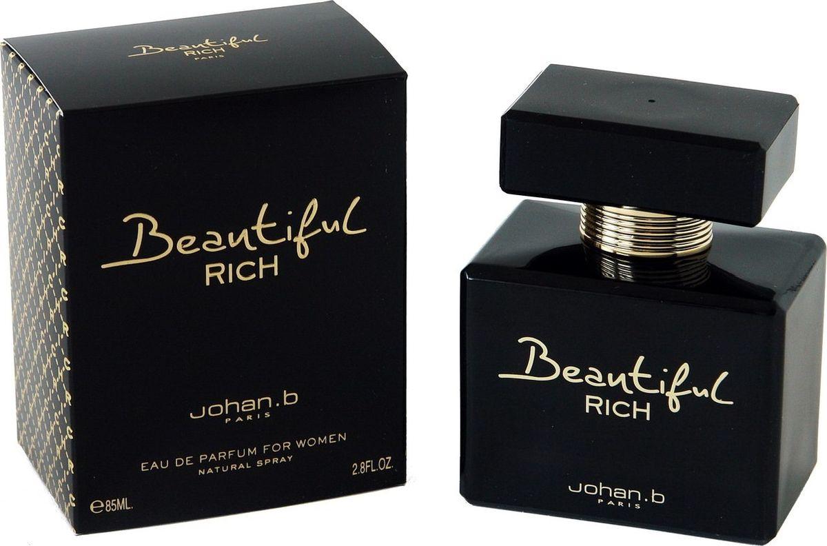 Geparlys Парфюмерная вода Beautiful Rich women Линии Johan.B, 85 мл10Является нежным, чувственным ароматом, который может покорить любое сердце. Обладательница данного аромата будет всегда в центре внимания любой публики.