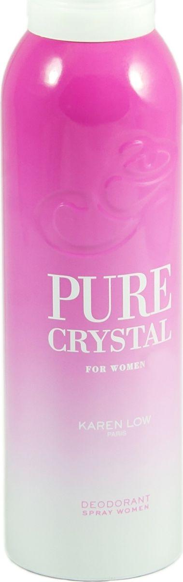 Geparlys Парфюмированный дезодорант для женщин Deo Pure Crystal линии Karen Low , 200 мл65116559Фруктовый, легкий. Основная парфюмерная композиция: Гранат, яблоко, пион, жасмин, лотос, амбре.
