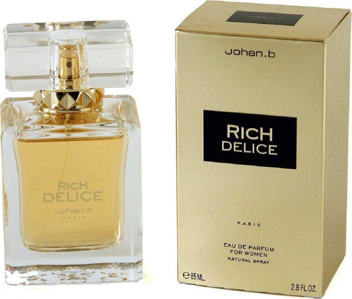 Geparlys Парфюмированная вода Rich Delice women , 85 мл28032022Geparlys Johan B Rich Delice - цветочно-фруктовый, шипровый, глубокий и таинственный аромат для загадочной незнакомки, покоряющей всех своей неотразимостью. Основная парфюмерная композиция: бергамот, персик, черная смородина, фиалка, пачули. Rich Delice создан для успешных и уверенных в себе женщин, он подарит восхищение окружающих, а мягкие согревающие ноты окутают волшебством и атмосферой восточных сказок.