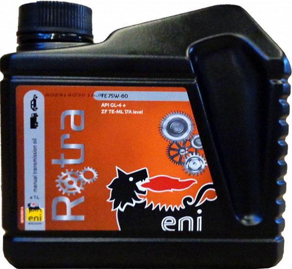 трансмиссионное масло Eni Rotra 75w-80 FE 1лS03301004Agip ROTRA FE полусинтетическое трансмиссионное масло с хорошими EP-свойствами и вязкостно-температурными характеристиками, обеспечивающими хорошую текучесть и надежную смазку всех узлов при низких температурах. Масло предназначено для смазки механических коробок передач, совмещенных с дифференциалом, установленных на большинстве современных переднеприводных автомобилей, включая автомобили российских производителей, где требуется трансмиссионное масло класса API GL4. Благодаря хорошим EP-характеристикам, масло прекрасно защищает трансмиссии даже в условиях сверхтяжелых нагрузок. Использование при производстве Agip ROTRA FE высококачественного синтетического базового масла придает маслу исключительную термо-окислительную стабильность, что надежно защищает от образования лаков, нагаров и других продуктов разложения. Его отличные антикоррозийные свойства надежно защищают механизмы и подшипники даже при наличии влажности. Хорошие антипенные свойства препятствуют образованию воздушных пузырьков, негативно влияющих на прочность масляной пленки. Объем 4 литра.ХарактеристикиСпецификации и одобрения API GL-4+Рекомендуется к применению вмеханических КПП переднеприводных автомобилей Российского производства.