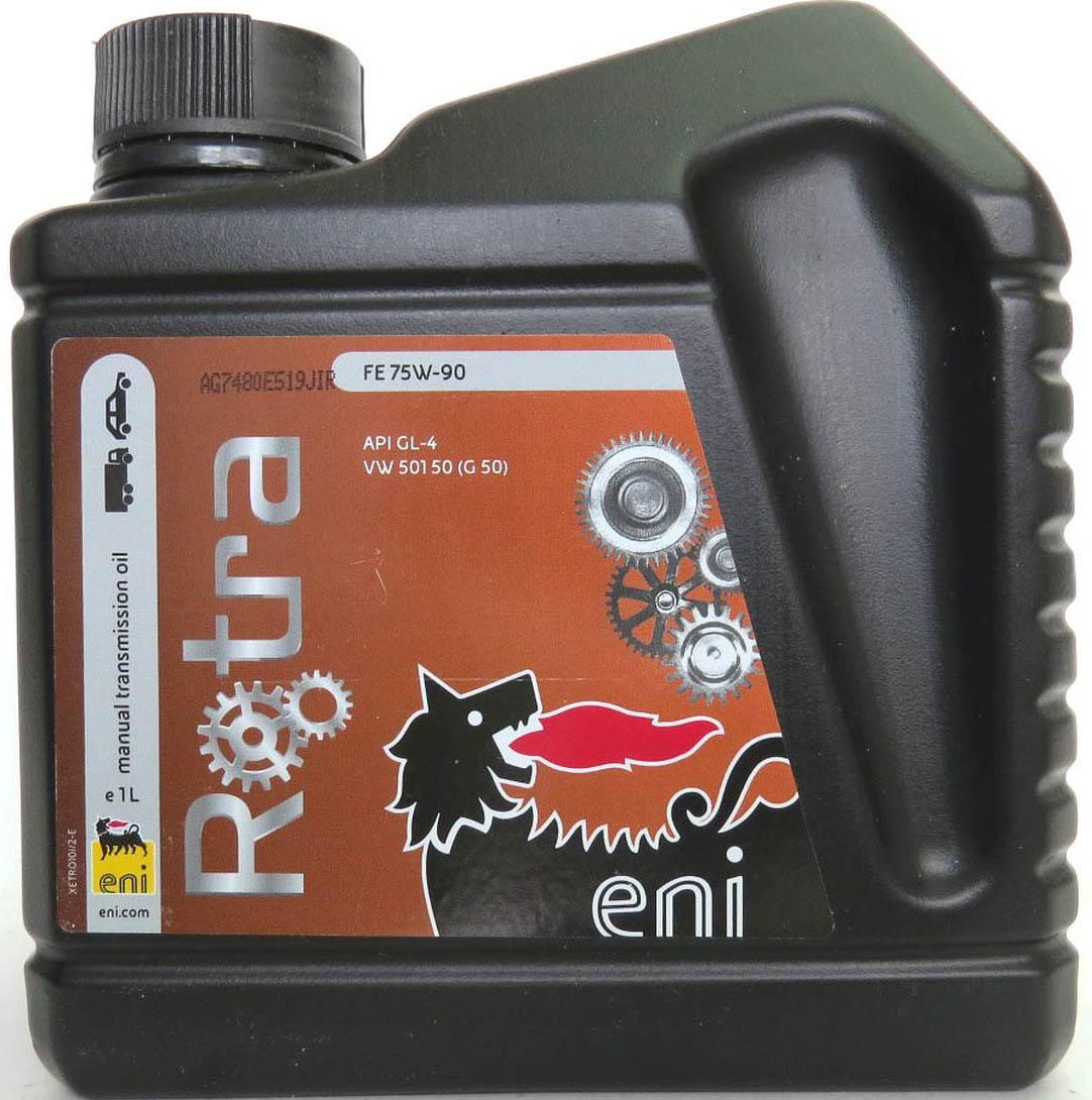 трансмиссионное масло Eni Rotra 75w-90 FE 1лS03301004Agip Rotra FE 75w-90синтетическое трансмиссионное масло с EP-свойствами и исключительными вязкостно-температурными характеристиками, гарантирующими отличную текучесть и надежную смазку при низких температурах. Продукт предназначен для применения в механических коробках передач, совмещенных с дифференциалом, для которых требуется масло класса API GL4. Таким образом данное масло идеально подходит для большинства современных переднеприводных автомобилей с механическими коробками передач.