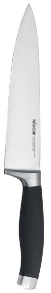Нож поварской Nadoba Rut, длина лезвия 20 см630044Поварской Nadoba Rut изготовлен из высококачественной кованой нержавеющей стали премиум-класса. Лезвие такого ножа остается острым очень долгое время. Эргономичная ручка выполнена из кованой нержавеющей стали с нескользящим резиновым покрытием. Лезвие имеет форму, позволяющую с легкостью справляться с любым продуктом. Нож предназначен как для рубки мяса, так и для шинковки капусты.Нож Nadoba Rut станет прекрасным дополнением к коллекции ваших кухонных аксессуаров и не займет много места при хранении. Общая длина ножа: 20 см.