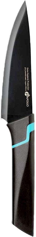 Нож кухонный Apollo Vertex, длина лезвия, 13,5 смРД-4126Кухонный нож Apollo Vertex - незаменимый помощник на вашей кухне. Лезвие изготовлено из нержавеющей стали. Стальные лезвия более стойкие к воздействию кислот, содержащихся в продуктах, они более гигиеничны и не подвержены коррозии. Кроме того, лезвия из стали сохраняют остроту дольше, чем другие ножи. Легкая, отлично сбалансированная и приятная на ощупь рукоятка удобна в использовании. Кухонный нож используется для нарезания и шинковки любых продуктов. Не рекомендуется мыть в посудомоечной машине.