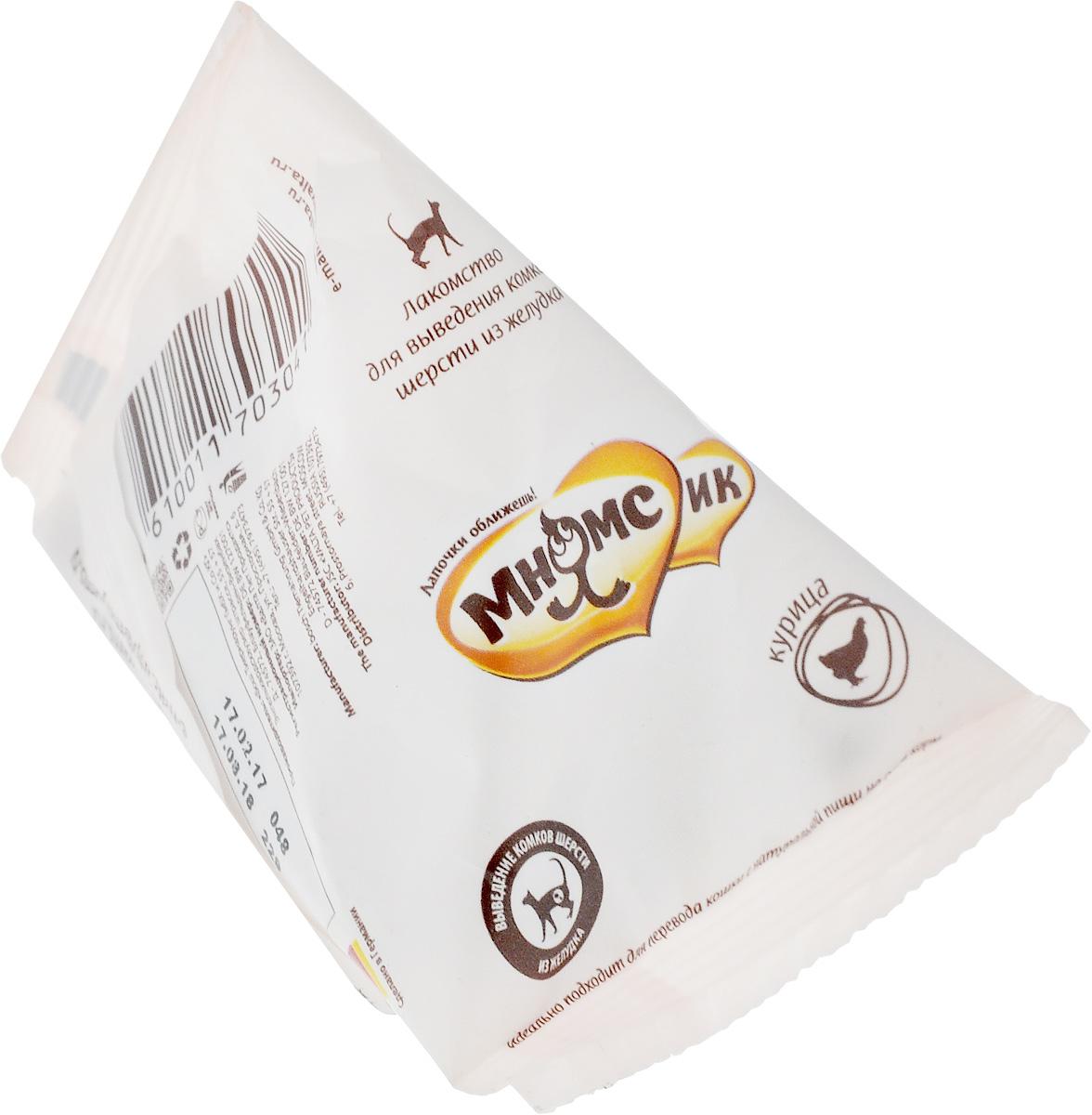 Лакомство МнямсИК, для выведения комков шерсти из желудка, 20 г703041Полезные компоненты, входящие в состав невероятно вкусного лакомства МнямсИК, способствуют выведению комков шерсти из желудка.Состав: мясо и мясные субпродукты (20% свежей птицы), производные растительного происхождения (4% целлюлозы, 0,5% подорожника), масла и жиры, яйца и производные яиц, минералы, дрожжи, фрукты, моллюски и ракообразные.Анализ состава: сырой белок 30%, жир 21,5%, сырая клетчатка 5,5%, сырая зола 6,5%.Пищевые добавки: витамин А 16750 МЕ/кг, витамин D3 1450 МЕ/кг, витамин Е 145 мг/кг, медь 10 мг/кг, цинк 30 мг/кг, цинк 95 мг/кг), йод 2 мг/кг, селен 0,2 мг/кг, таурин 1900 мг/кг.Товар сертифицирован.