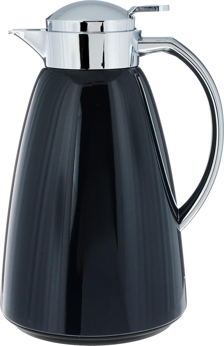 Термос-чайник Emsa Campo, цвет: антрацит, 1 л115510Удобный термос-чайник Emsa Campo станет незаменимым аксессуаром в поездках, выездах на природу, дачу, рыбалку или пикник. Корпус изделия выполнен из высококачественной нержавеющей стали и ABS пластика, а колба - из стекла. На крышке изделия имеется кнопка, с помощью которой вы сможете легко открыть герметичный клапан, а удобные носик и ручка позволят аккуратно разлить содержимое по стаканам. Время удержания тепла: 12 ч.Время удержания холода: 24 ч.