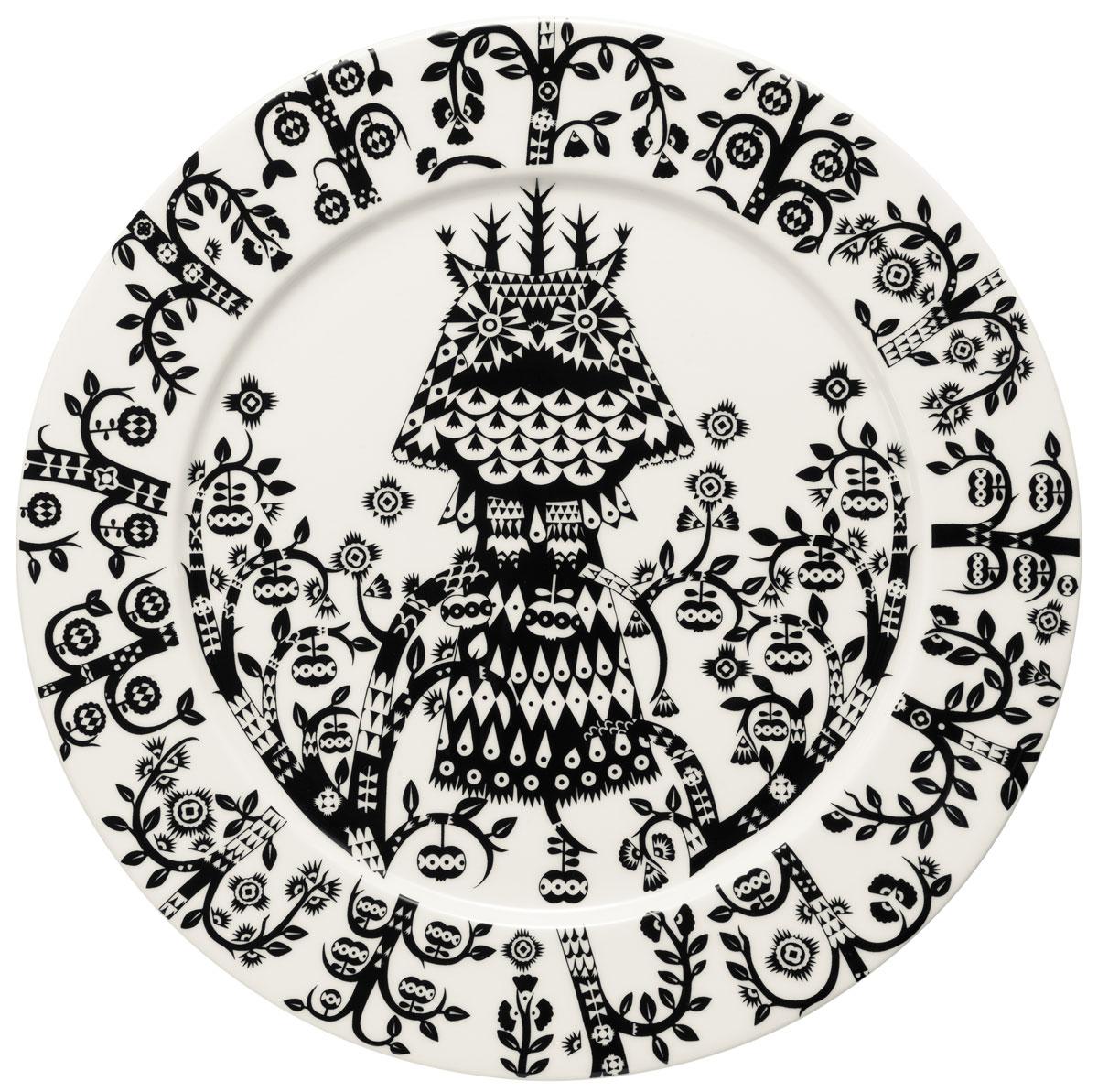 Тарелка Iittala Taika, цвет: черный, диаметр 27 см1011639