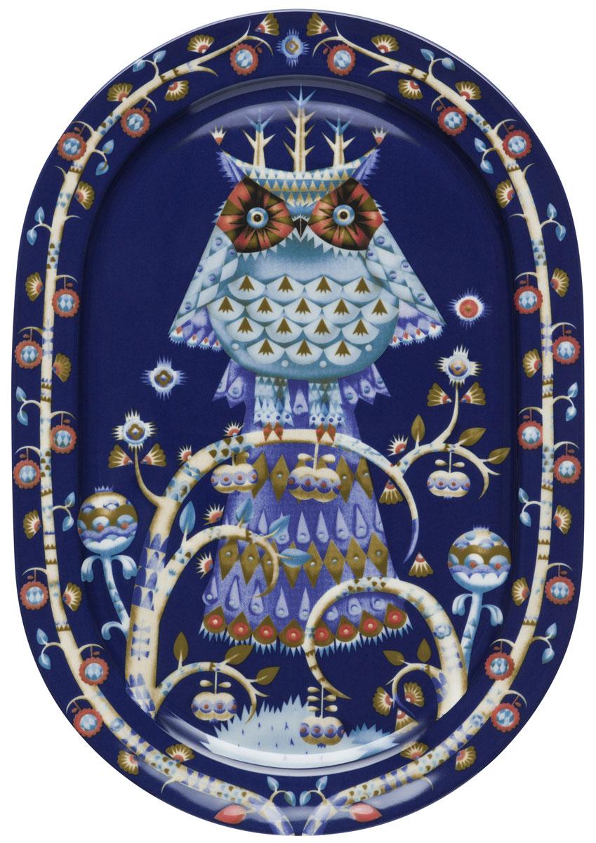Тарелка Iittala Taika, овальная, цвет: синий, 41 см1011641