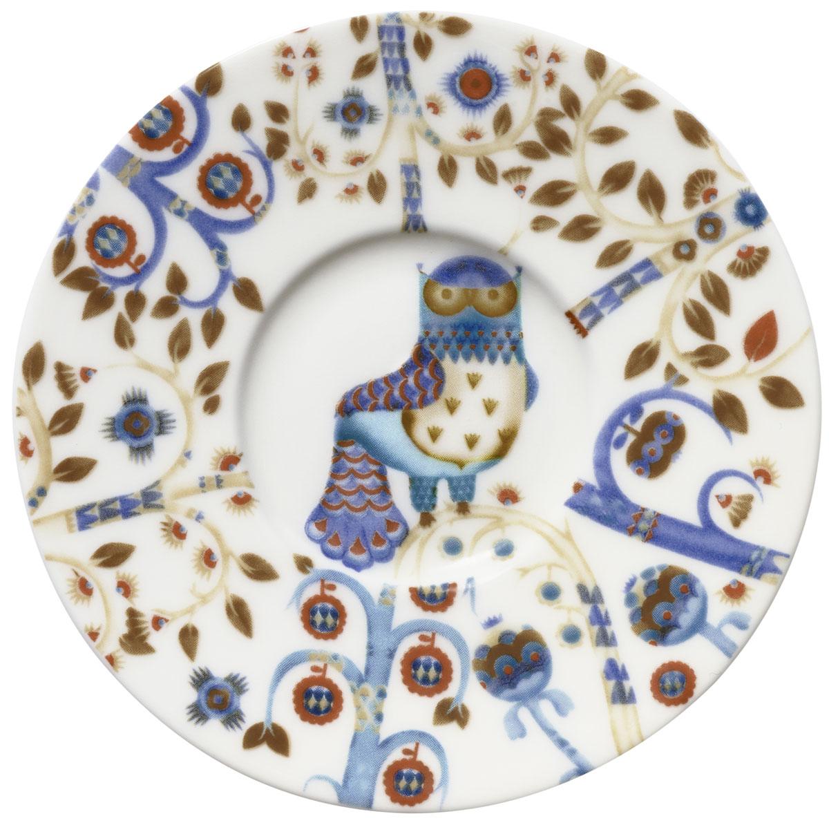 Блюдце Iittala Taika, для кофейной чашки, цвет: белый, диаметр 11 см1012447