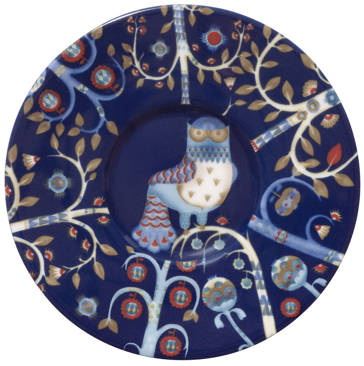 Блюдце Iittala Taika, для кофейной чашки, цвет: синий, диаметр 11 см1012448