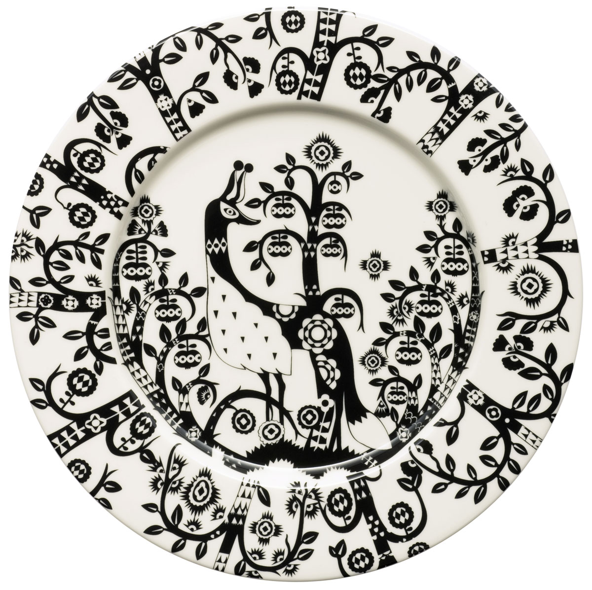 Тарелка Iittala Taika, цвет: черный, диаметр 22 см1012496