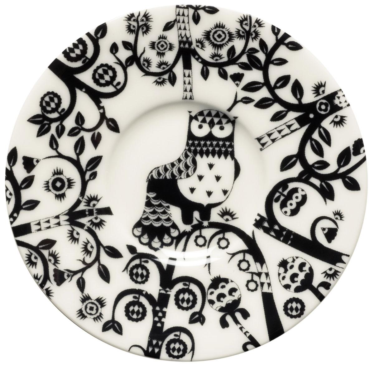 Блюдце Iittala Taika, для кофейной чашки, цвет: черный, диаметр 11 см1012499