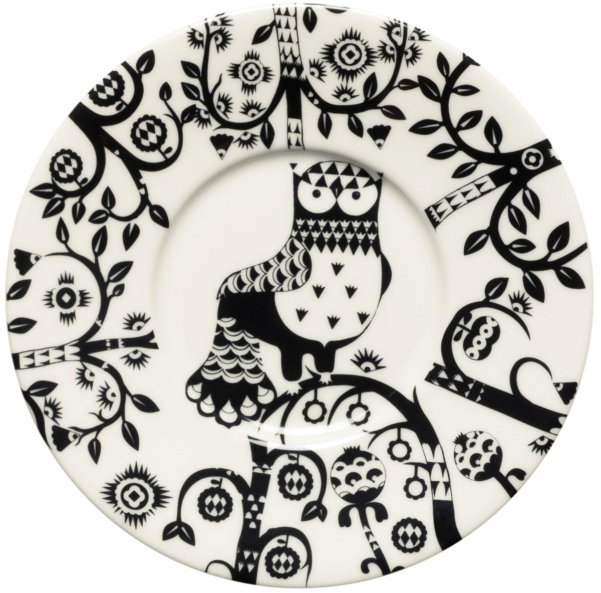 Блюдце Iittala Taika, цвет: черный, диаметр 15 см1012508