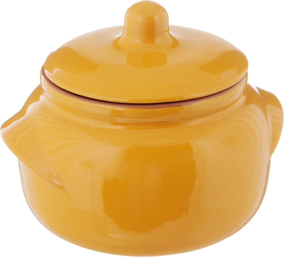 Горшочек для запекания Борисовская керамика Новарусса, цвет: желтый, 500 мл1228244Горшочек для запекания Борисовская керамика Новарусса выполнен из высококачественной глины. Уникальные свойства красной глины и толстые стенки изделия обеспечивают эффект русской печи при приготовлении блюд. Блюда, приготовленные в таком горшочке, получаются нежными исочными. Вы сможете приготовить мясо, сделать томленые овощи и все это без капли масла. Этоодин из самых здоровых способов готовки. Диаметр горшка (по верхнему краю): 10 см. Высота стенок: 8 см.