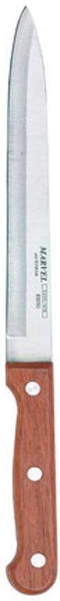 Нож кухонный Marvel Rose Wood, длина лезвия 15 см6.8523.17BКухонный нож Marvel Rose Wood - незаменимый помощник на вашей кухне. Лезвие, изготовленное из стали, более стойкое к воздействию кислот, содержащихся в продуктах, более гигиенично и не подвержено коррозии. Кроме того, лезвие из стали сохраняет остроту дольше, чем другие ножи. Легкая, отлично сбалансированная и приятная на ощупь рукоятка удобна в использовании. Кухонный нож используется для нарезания и шинковки любых продуктов. Общая длина ножа: 24,8 см.