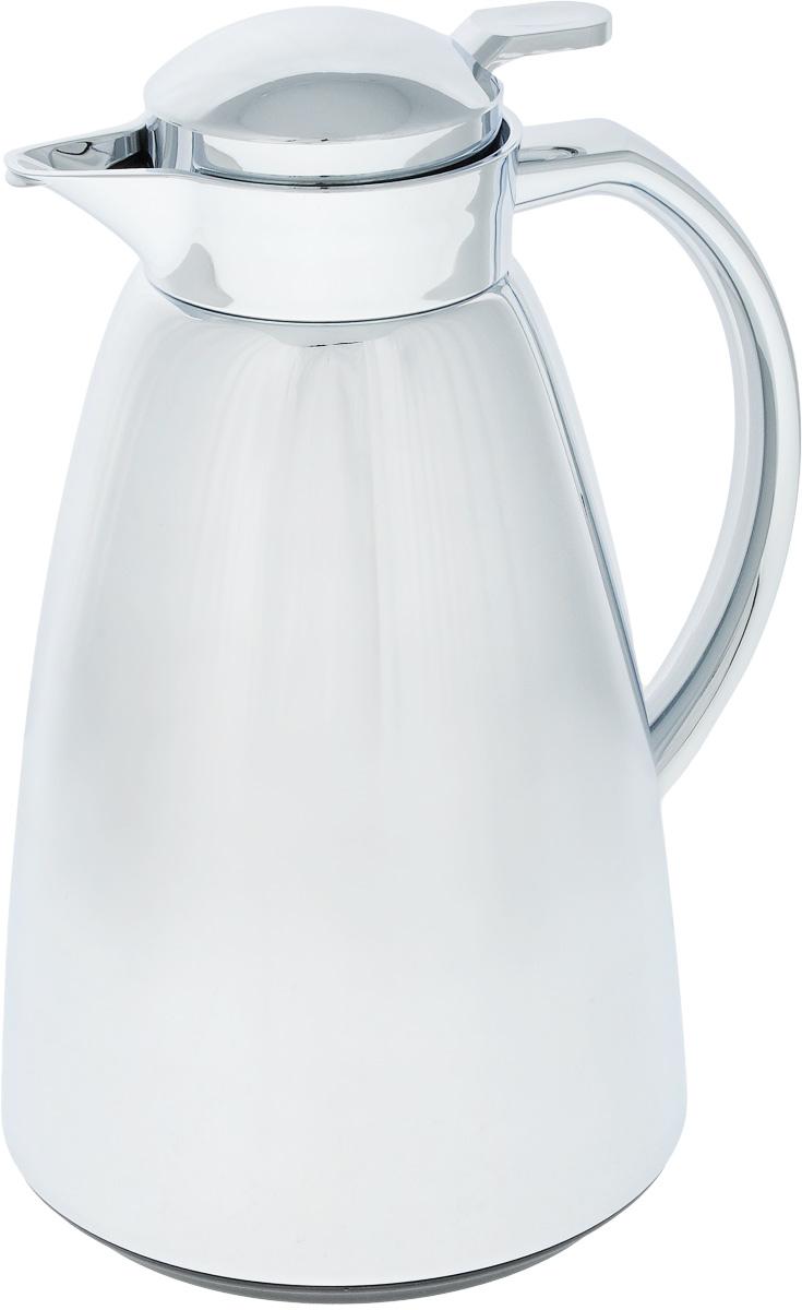 Термос-чайник Emsa Campo, цвет: хром, 1 л115510Удобный термос-чайник Emsa Campo станет незаменимым аксессуаром в поездках, выездах на природу, дачу, рыбалку или пикник. Корпус изделия выполнен из высококачественной нержавеющей стали и ABS пластика, а колба - из стекла. На крышке изделия имеется кнопка, с помощью которой вы сможете легко открыть герметичный клапан, а удобные носик и ручка позволят аккуратно разлить содержимое по стаканам. Время удержания тепла: 12 ч.Время удержания холода: 24 ч.