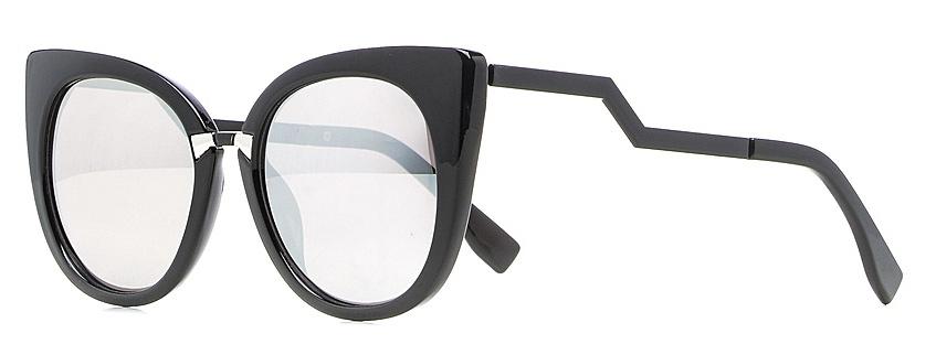 Очки солнцезащитные женские Vitta pelle, цвет: черный, зеркальный. 1301-2017-5577INT-06501Степень защиты от ультрафиолетовых лучей - 400UV.