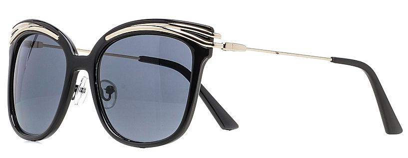 Очки солнцезащитные женские Vitta pelle, цвет: черный. 1301-2017-5608INT-06501Степень защиты от ультрафиолетовых лучей - 400UV.