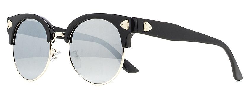 Очки солнцезащитные женские Vitta pelle, цвет: черный, зеркальный. 1301-2017-5617BM8434-58AEСолнцезащитные женские очки Vitta pelle, выполненные из высококачественного пластика, подчеркнут вашу индивидуальность и сделают ваш образ завершенным. Они не пропускают вредоносные солнечные лучи и не искажают изображение.Очки имеют стильный дизайн и легкую и комфортную оправу.Степень защиты от ультрафиолетовых лучей - 400UV.