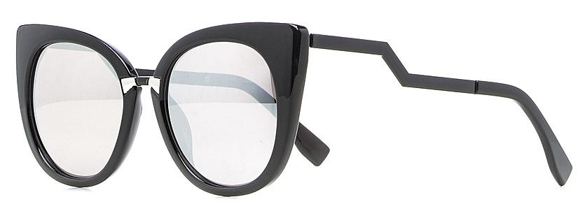 Очки солнцезащитные женские Vitta pelle, цвет: черный. 1301-2017-5577INT-06501Степень защиты от ультрафиолетовых лучей - 400UV.