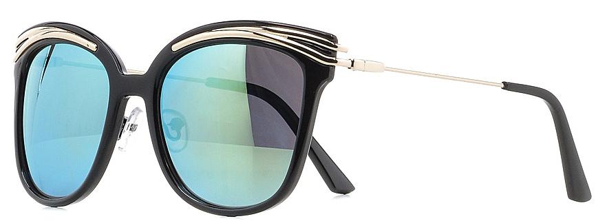 Очки солнцезащитные женские Vitta pelle, цвет: черный, зеленый. 1301-2017-5608INT-06501Степень защиты от ультрафиолетовых лучей - 400UV.