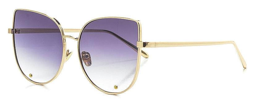 Очки солнцезащитные женские Vitta pelle, цвет: золотистый, черный. 2802-2017-817INT-06501Степень защиты от ультрафиолетовых лучей - 400UV.