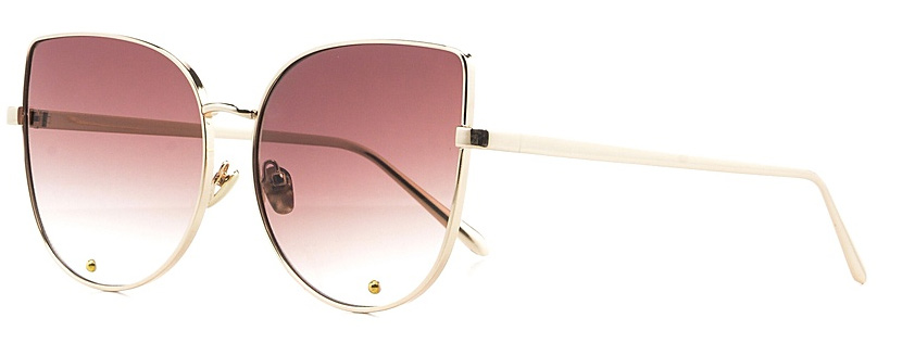 Очки солнцезащитные женские Vitta pelle, цвет: золотистый, коричневый. 2802-2017-817BM8434-58AEСтепень защиты от ультрафиолетовых лучей - 400UV.