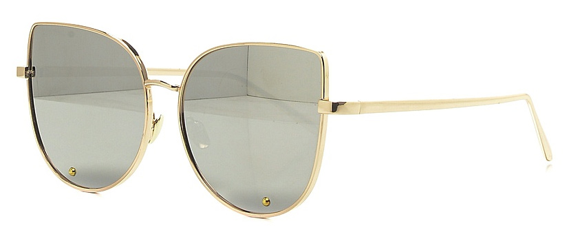 Очки солнцезащитные женские Vitta pelle, цвет: зеркальный. 2802-2017-817BM8434-58AEСтепень защиты от ультрафиолетовых лучей - 400UV.
